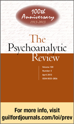 The Psychoanalytic Review The Official Journal of the National Psychological Association for Psychoanalysis